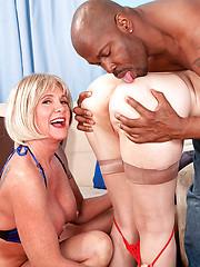 Threesome mature sex scene