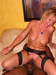 Housewife slut knows how to get a cock off!