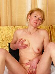 Older mature slut slurps down cock!