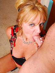 Perfect 50 plus woman blowing and riding