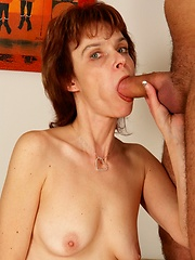 Hot 50 year old slut fucks younger man