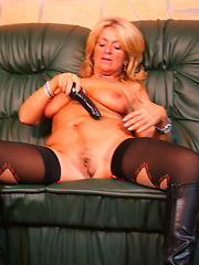 Hot GILF sluts around and gets fucked hard!