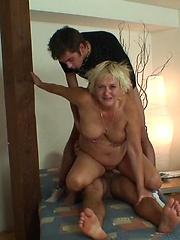 The cleaning lady shows up but they don't let her do anything but suck and fuck