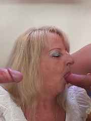 A little drinking starts things off and then the seductive granny wants her old sex