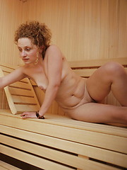 Take a look at an all mature female sauna