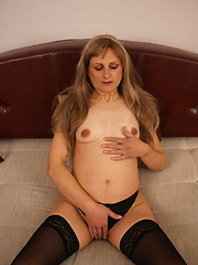 This naughty housewife loves to please herself
