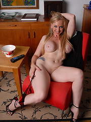 Hot blonde MILF playing with herself
