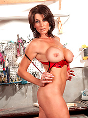 Hottest milf with amazing figure shows her boobs