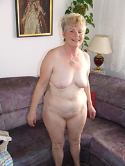 Naughty older lady showing off her naked body