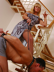 Freaky milf going for femdom play with her young and well-hung sub
