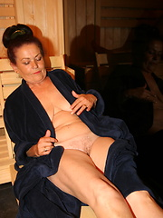 Sauna photo session of sexy mature sluts