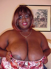 Black mama April with amazing huge boobs