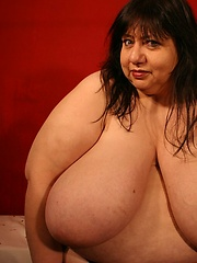 German BBW mama with gigantic large breasts