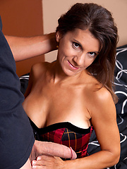 Naughty mom rides cock and the gets facial cumshot