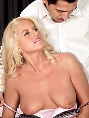 Hot blonde cougar Samantha Ray wants for hard fuck
