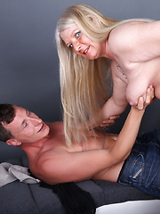 Naughty German housewife doing her lover