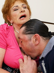 Horny mature lady having fun with her lover