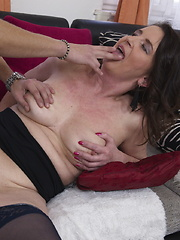Naughty housewife having fun with her toy boy