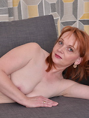 Naughty housewife playing with her pussy