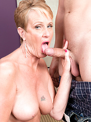 Misty invites hard cock into her aged wet hole