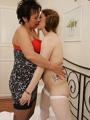 These old and young lesbians sure know how to go down