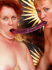 Mature BBW Lesbians Fuck with Toys
