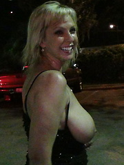 Hot blonde with huge tits gets covered in cum while in the theater