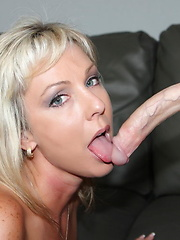 Sexy Naughty Alysha get a surprise when she fucks this skinny little guy and he whips out his huge cock