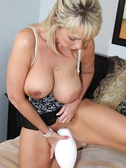 Naughty Alysha shows us what else you can do with a bowling pin