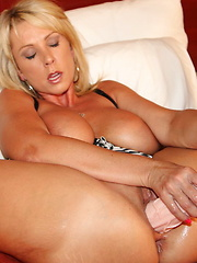 Hot milf with her huge Dildos
