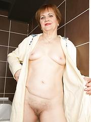 Soapy mature cunt