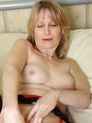 Horny European MILF showing her stuff