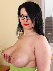 Horny big breasted MILF playing with herself