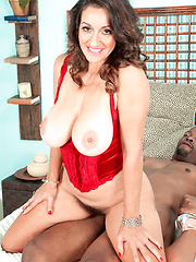 A Big, Black Cock, A Very Hairy Pussy And A Creampie
