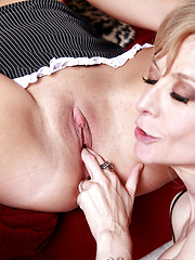 Nina Hartley and Tara Lynn Foxx lesbian licking session