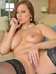 Classy Anilos chick Lara Jade Deene shows off her perfect sized tits