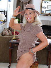 Naughty American mature lady getting ready to play