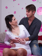 This horny housewife loves to fool around with her toy boy