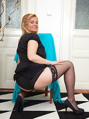 This horny housewife oves to get wet and wild