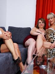 Three naughty housewife share their lesbian feelings