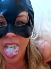 Cat Woman Gets Fucked Kitty Style And Swallows Huge Load