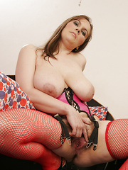 Hairy pussy, big tits and a real slut!