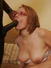 Hairy MILF gets black cock in her blonde bush!