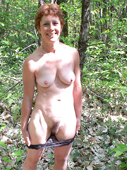 Naked mature women that you can meet in a forest