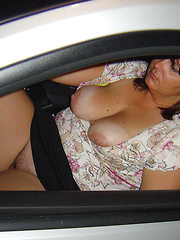 Chubby carwives to have sex somewhere outdoors