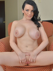 Naughty hot mom playing alone