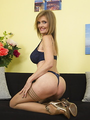 Naughty housewife getting frisky