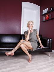 Horny German housewife getting very naughty