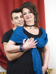This horny mature lady loves fooling around with her toy boy